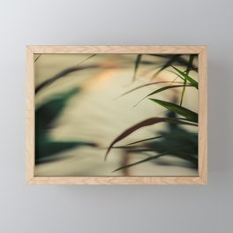 [1] Dancing people, dance, shadows, hands and plants, blurred photography, artistic, forest, yoga Framed Mini Art Print