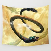 dragon Wall Tapestries featuring Dragon by nicky2342