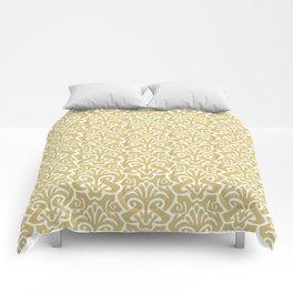 Art Nouveau Pattern Gold Comforters
