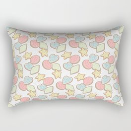 The Shape of Cookies (on gray) Rectangular Pillow