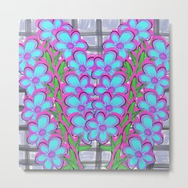 Flower Vine Metal Print