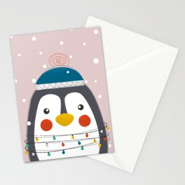 Christmas Animals - Festive Penguin Stationery Cards