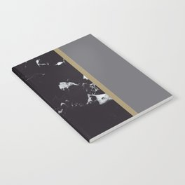 Marble Mix Stripes #1 #black #white #gray #gold #decor #art #society6 Notebook