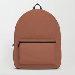 Sherwin Williams Color of the Year 2019 Cavern Clay SW 7701 Solid Color Backpack