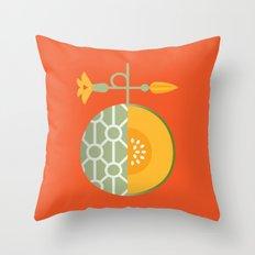 Fruit: Cantaloupe Throw Pillow
