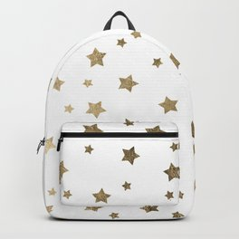 Modern gold Christmas stars geometric pattern Backpack