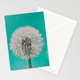 Green Blue Dandelion Stationery Cards