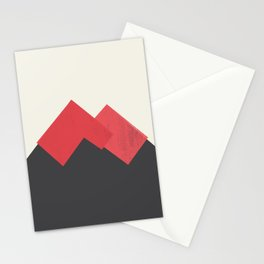 Volcano Pastel Mountains II Stationery Cards
