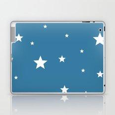White stars on blue Laptop & iPad Skin