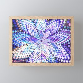Flower Energy Bokeh Lights Framed Mini Art Print