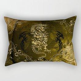 Wonderful golden chinese dragon Rectangular Pillow