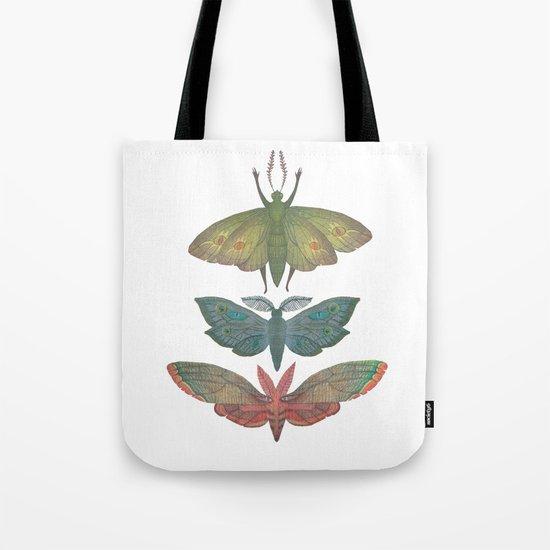 Saturn Moths Tote Bag