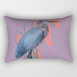 Great blue on the Bayou Rectangular Pillow