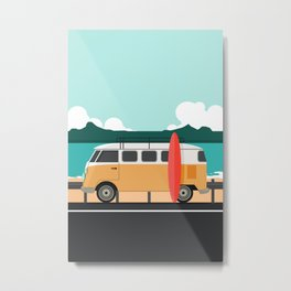 Road Trip on Van Metal Print
