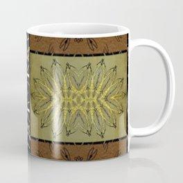 Bronze, Gold Striped Tile black, gold leaf, copper, bronze,) Persian Style  Coffee Mug