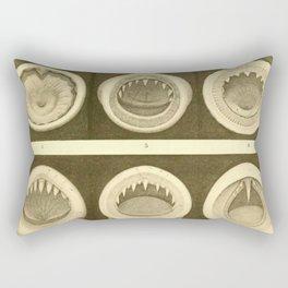 Vintage Cephalopod Mouths Rectangular Pillow