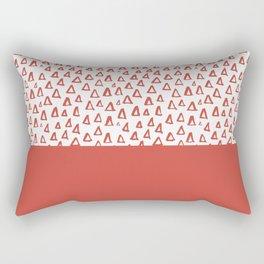 Triangles Fiesta Red Rectangular Pillow