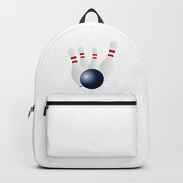Bowling Ball and Pins Backpack