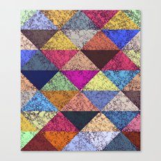 Color texture, Geometric background Canvas Print