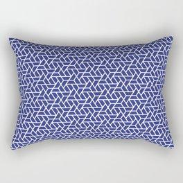navy blue trapezoid pattern Rectangular Pillow