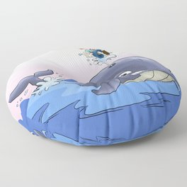 Jonah and the big fish Floor Pillow