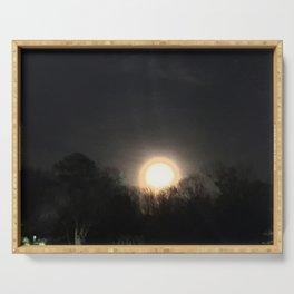 Lunar Eclipse 2017 Atlanta Georgia Serving Tray
