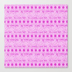 Lacey Lace - White Pink Canvas Print