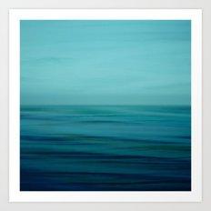 Greenish Blues Art Print