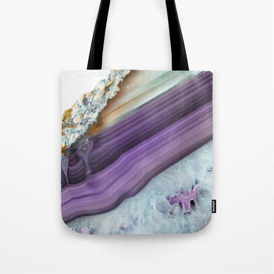 Purple Agate Slice Tote Bag