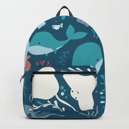 Sea creatures 004 Backpack
