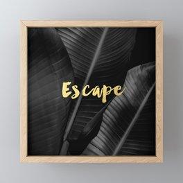 Escape - gold Framed Mini Art Print