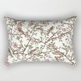 Sparrow Tree - Seamless Pattern Rectangular Pillow