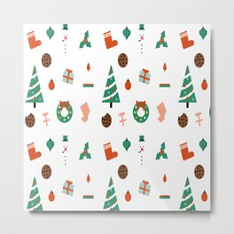 Christmas tree pattern material Metal Print