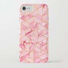 Pink Marble Hexagonal Pattern iPhone 7 Slim Case