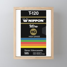 NIPPON VHS Framed Mini Art Print