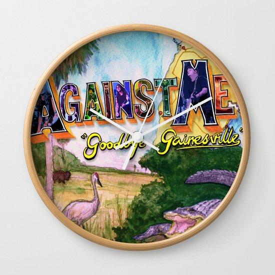 """Goodbye Gainesville"" by Cap Blackard Wall Clock"