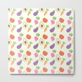 Mixed Vegetable Metal Print