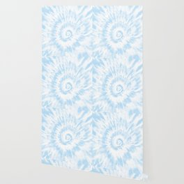 Lighter Ocean Blue Tie Dye Wallpaper