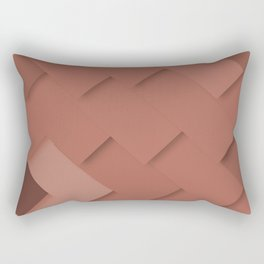 Terracotta pattern, layered like shingles, tiles or paint swatches you just cannot choose from! Rectangular Pillow
