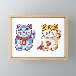 Lucky Cats Framed Mini Art Print