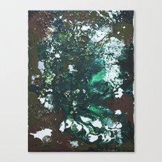 Green abstract liquidity. Canvas Print