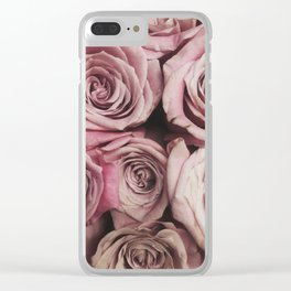Garden Roses Clear iPhone Case