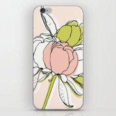 Peonies II iPhone & iPod Skin