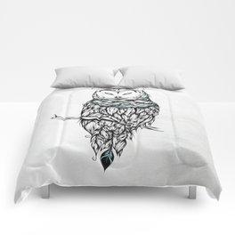 Poetic Snow Owl Comforters
