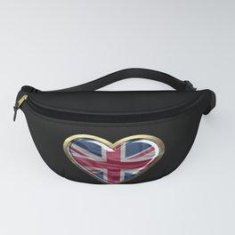 British Heart Flag product UK United Kingdom Gift Fanny Pack