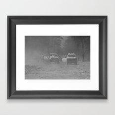 Smoke Haze Framed Art Print