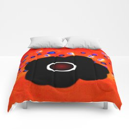 Hole and black flower Comforters