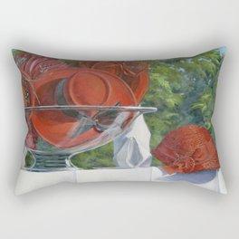 Bowl of Cherries — Ladies Vintage Hats Rectangular Pillow