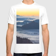 Sunset Valley #landscape #photography #society6 White MEDIUM Mens Fitted Tee