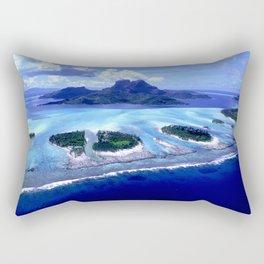Bora Bora Island Tropical Paradise Rectangular Pillow